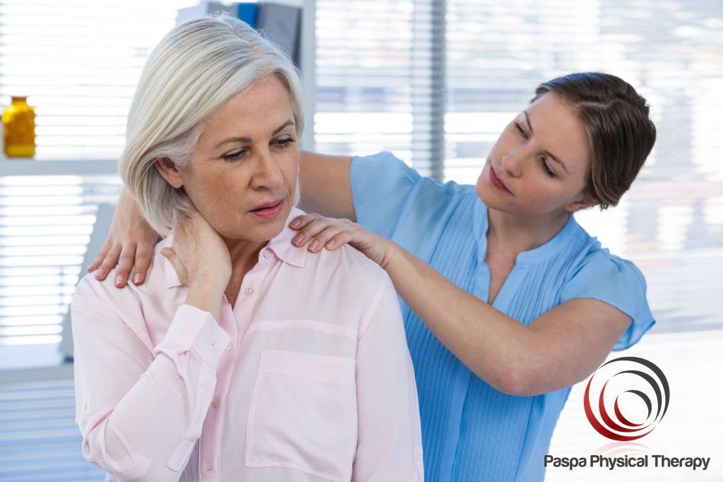 Physical therapist treating a frozen shoulder - Paspa PT, Manhattan, NY